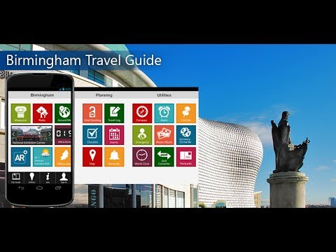 Birmingham Travel Android App Promo - Pangea Guides