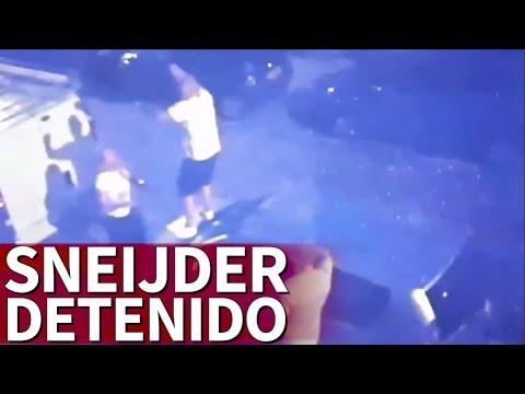 Sneijder, exjugador del Real Madrid, detenido tras bailar encima de un coche estando borracho