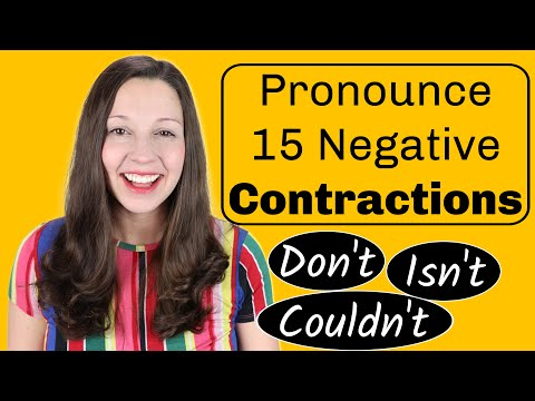 How to Pronounce Negative Contractions