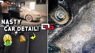 Deep Cleaning a MUDDY Salty Honda Civic! | Nasty Salt Stain Car Cleaning and Vehicle Transformation!