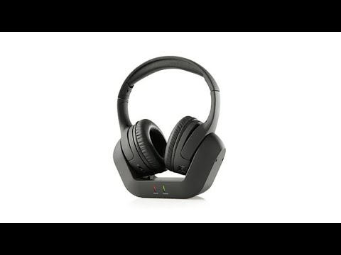 Brookstone Digital Wireless Tv Headphones With Base Youtube