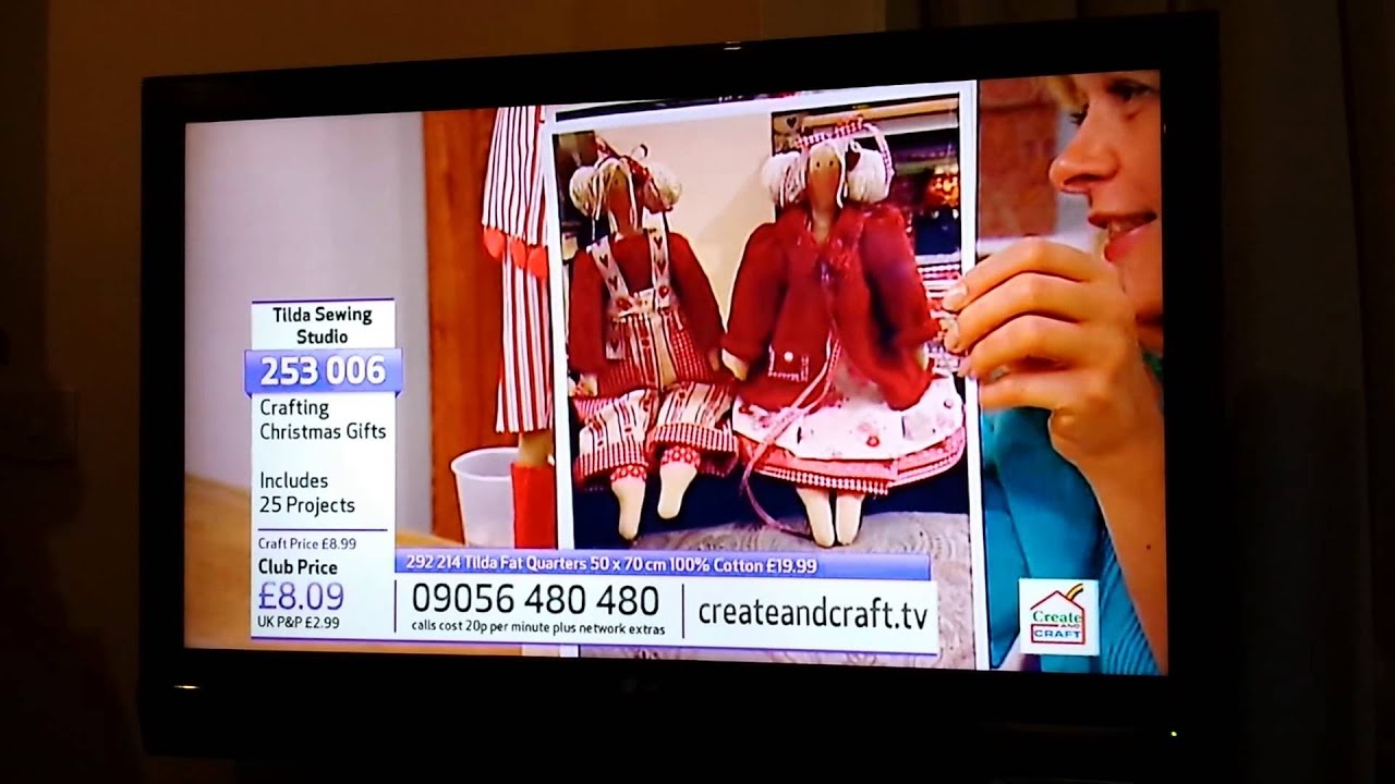 Tilda dolls on create and craft tv youtube for Watch create and craft tv online