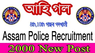 Assam Police New Recruitment 2019Assam Police 2000 New Post 2019Assam Police New Update 20 ...