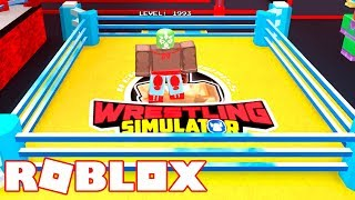 Roblox - FREE FIGHTING SIMULATOR (WWE)!! -Wrestling Simulator 🎮