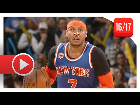 Carmelo Anthony Full Highlights vs Thunder (2017.02.15) - 30 Pts, 19 Pts in 1st Qtr