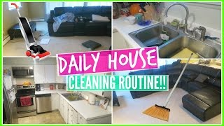 MOTIVATING DAILY HOUSE CLEANING ROUTINE!! Everyday Kitchen & Living Room Cleaning[ARMY WIFE VLOGS]