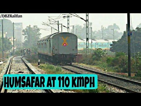 Diverted !! 22706 Jammu HUMSAFAR Exp. at 110kmph