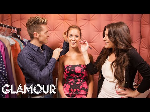 Quick Day-to-Night Hair and Makeup Tricks - Elevator Makeover | Style & Beauty | Glamour