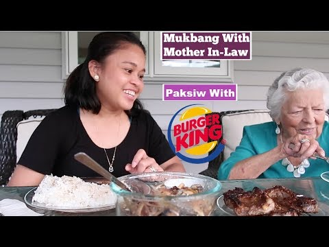 Paksiw & Burger King MUKBANG With Mother In-Law: MaryAnn.A RealityTV