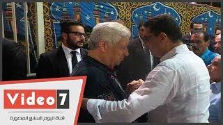 مرتضى وجلال إبراهيم وأبوريدة وماكليش فى عزاء نجل زادة
