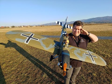 JUNKERS CL-1 1.75m with Saito FA 100T Twin 4 stroke engine Maiden flight