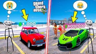 $1000'LIK ARABA VS $1000000'LIK ARABA TROLLFACE! - GTA 5
