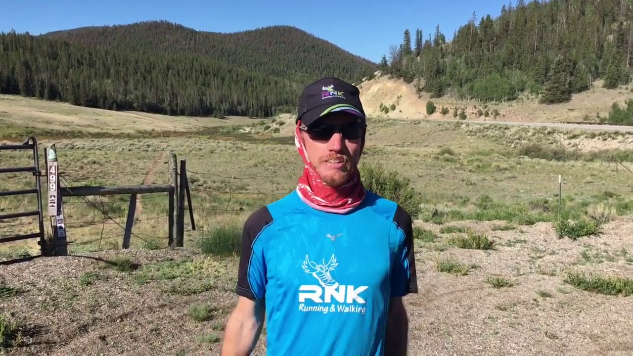 Interviewing Colorado Trail Hiker