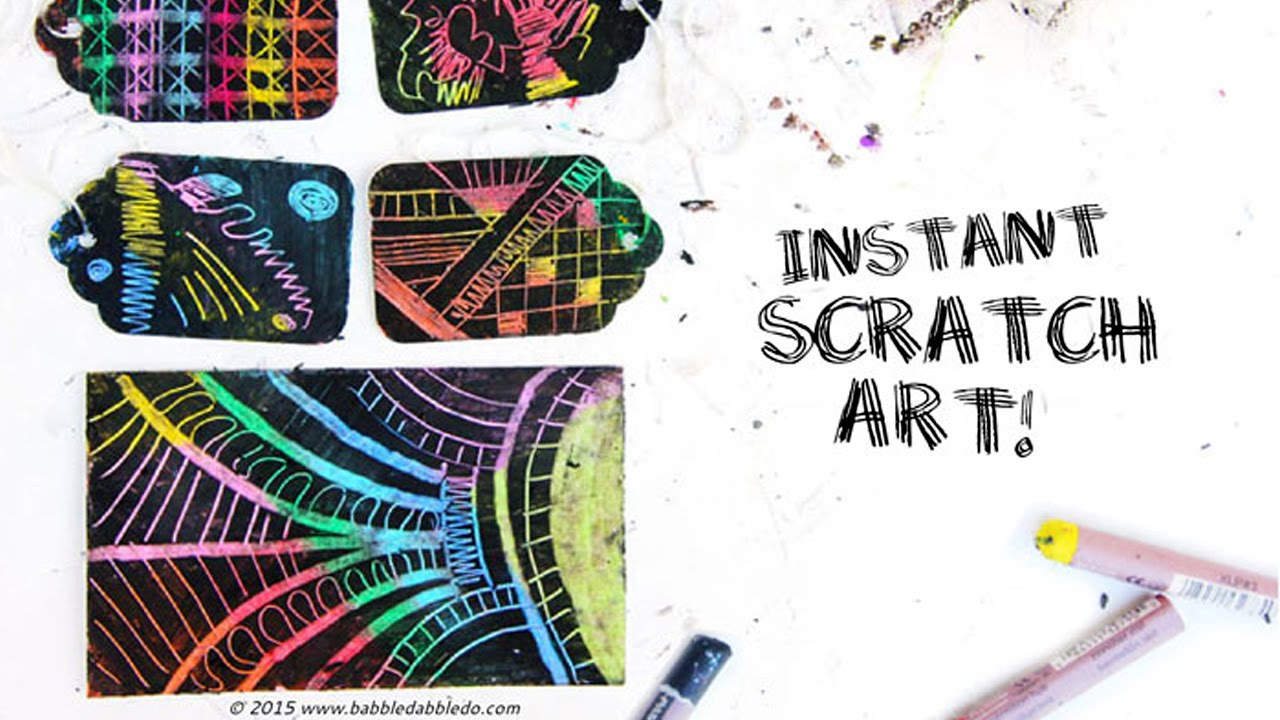 Instant Scratch Art Easy Oil Pastel Project For Kids Adults