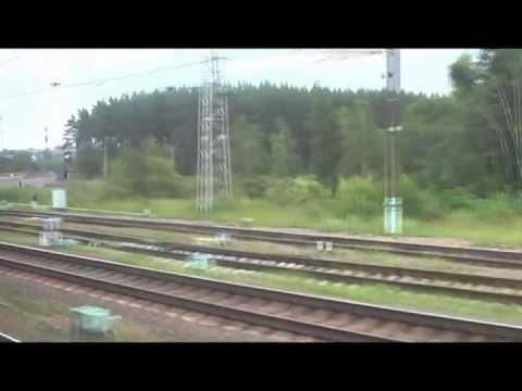 """Станция Кубинка-1 из окна поезда """"Неман"""""""