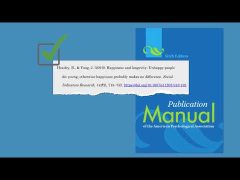 Formatting a Citation in APA using in EBSCOhost - YouTube