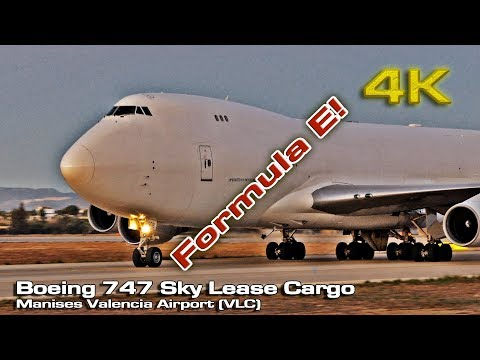 Boeing 747 Sky Lease Cargo  [4K] (Formula E Championship) Valencia N908AR