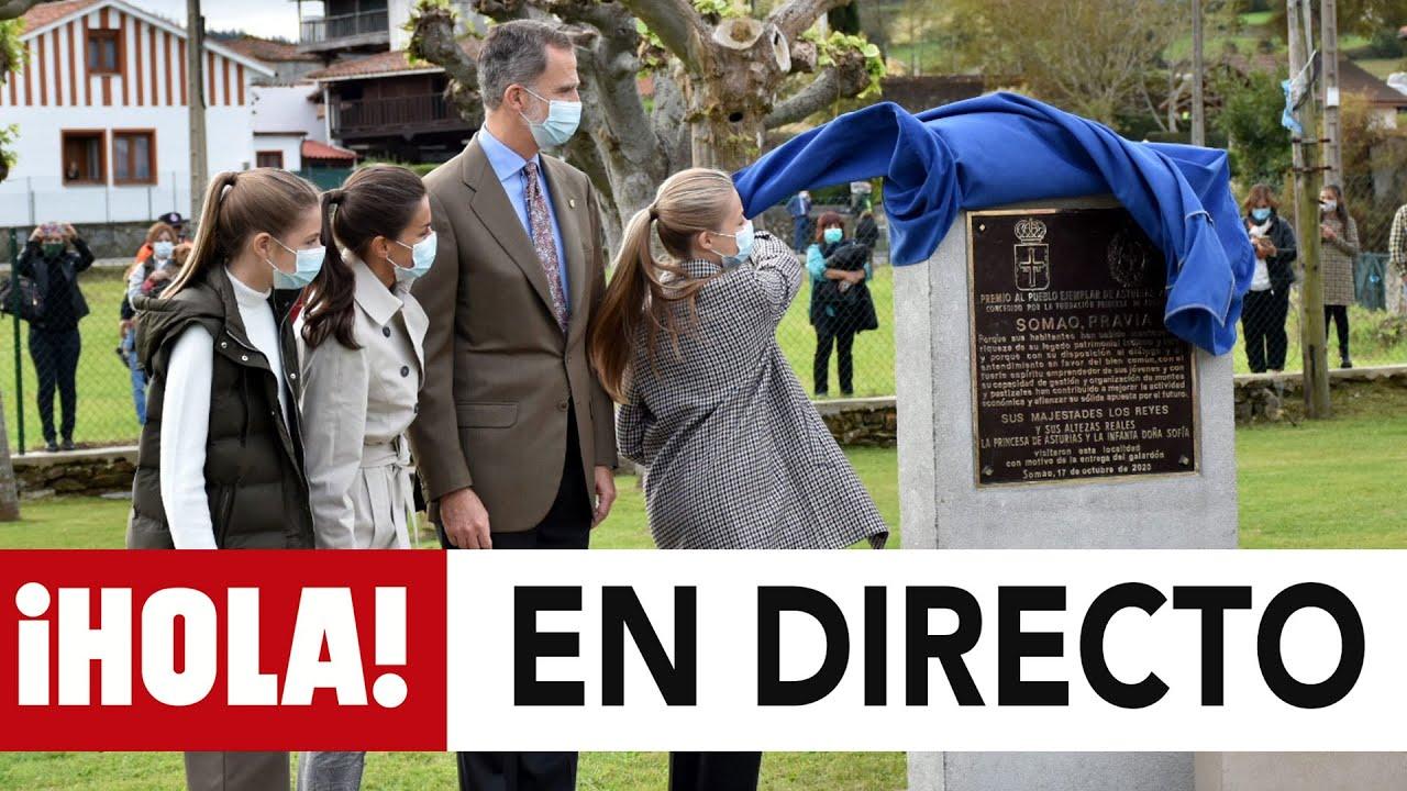 DIRECTO | Los reyes y sus hijas visitan al pueblo ejemplar de Asturias 2020