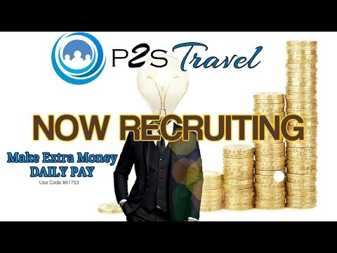 P2S Travel Compensation | P2S Travel Paid In CryptoCurrency or Dollars | MLM CryptoCurrency