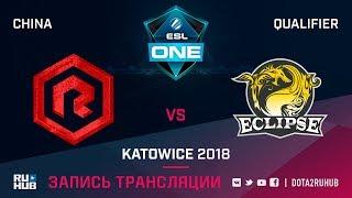 Rock Young vs Eclipse, ESL One Katowice CN, game 1 [Autodesctruction]