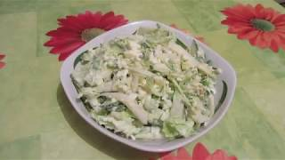 """Зеленый салат """"Летнее настроение"""". Кусочек лета на вашем столе."""