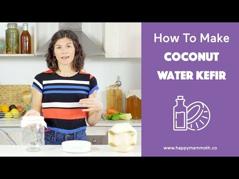 How To Make Coconut Water Kefir: More Good Bacteria Than A Probiotic Supplement (CANDIDA DESTROYER)
