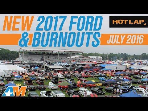 2017 Ford GT Up Close, Burnout w/ Jalopnik & Loudest 2015 Mustang Exhaust! - HOT LAP