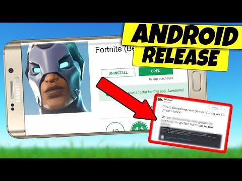 Fortnite Mobile Android BETA RELEASE NEWS + LEAKS CONFIRMED!