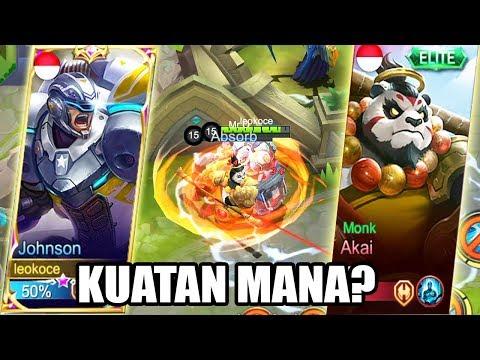 NGAKAK! SIAPA TANK TERKUAT? AKAI VS JOHNSON - Mobile Legends Indonesia (UniPin Challenge)