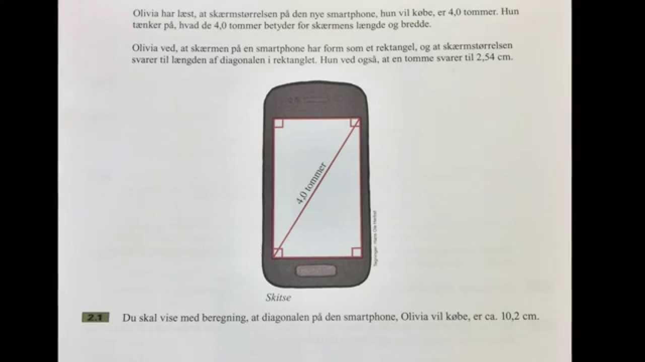 3. Sådan beregner du diagonalen i et rektangel