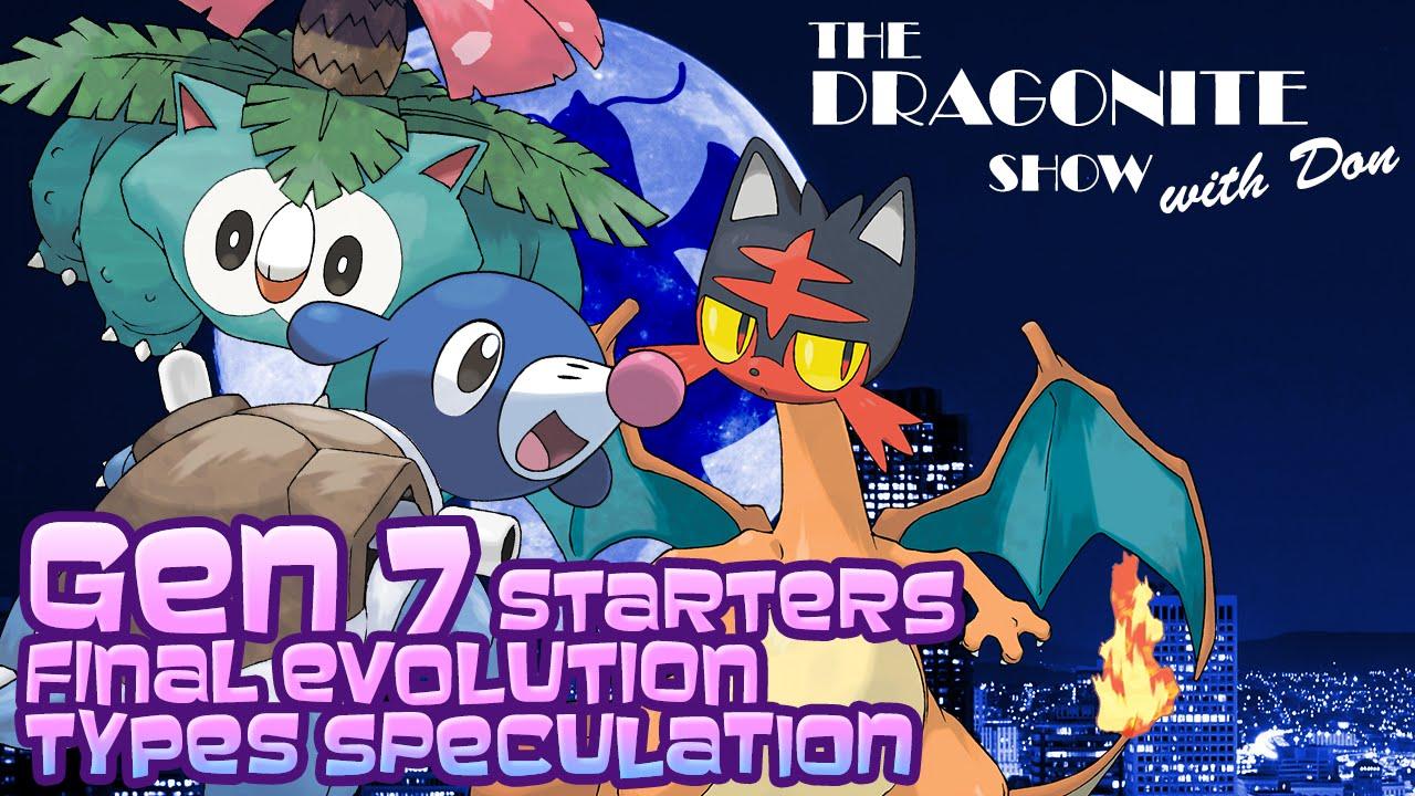 gen 7 starters final evolution