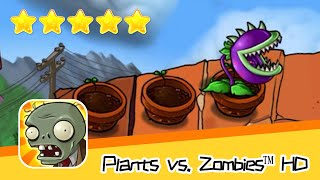 Plants vs  Zombies™ HD ROOF Level 05 Walkthrough The zombies are coming! Recommend index five stars