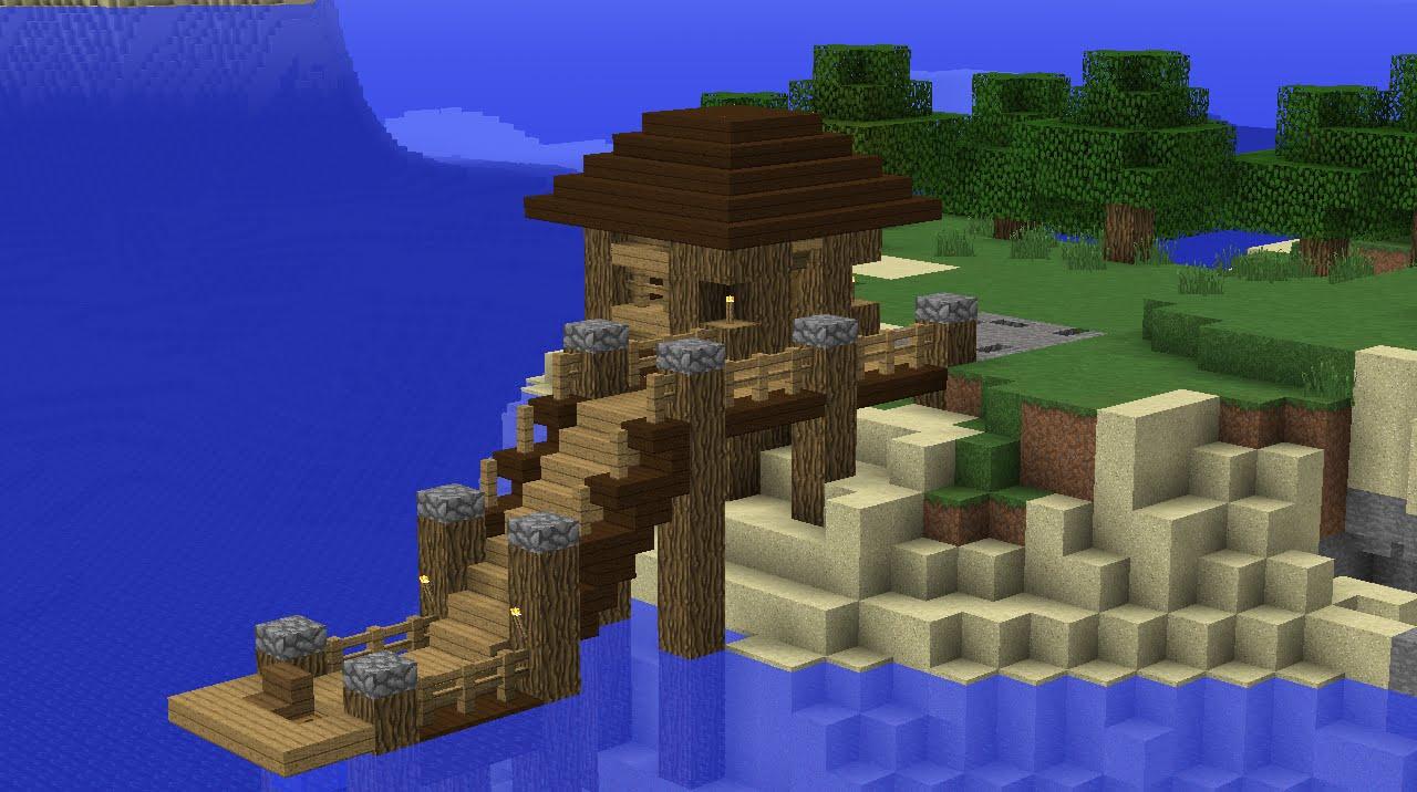 minecraft fishing house - 1280×716