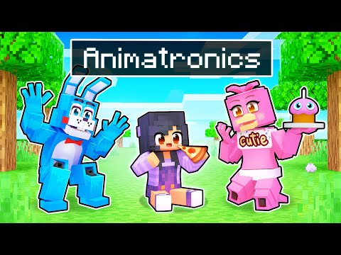 Adopted By ANIMATRONICS In Minecraft!