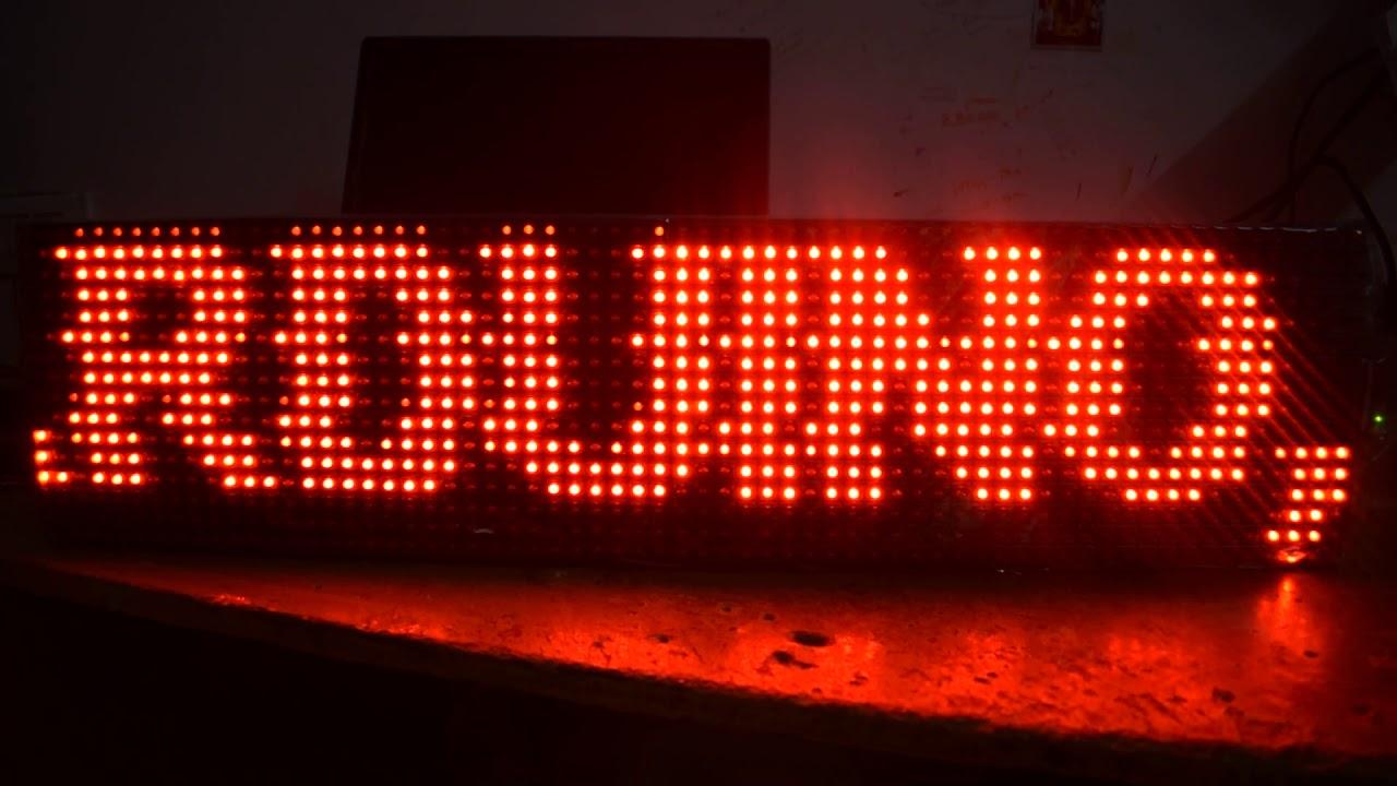 P10 LED Display with Arduino Nano