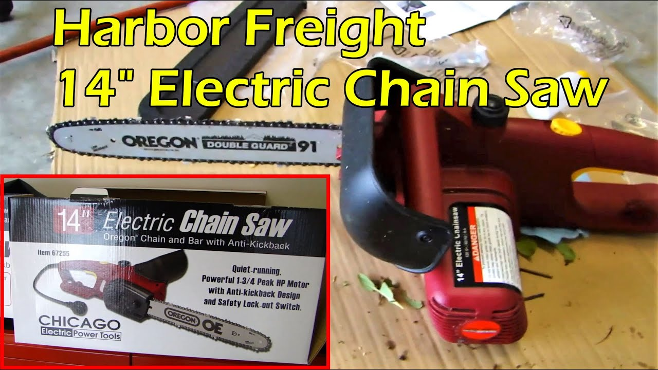 14 electric chainsaw from harbor freight item 67255 youtube 14 electric chainsaw from harbor freight item 67255 keyboard keysfo
