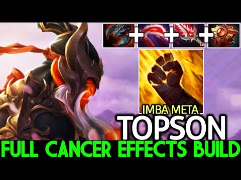 TOPSON [Ember Spirit] Full Cancer Effects Build Imba Sleight Of Fist 7.22 Dota 2
