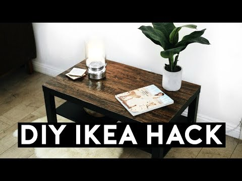 DIY IKEA HACK! WOOD COFFEE TABLE EASY & CHEAP 2017