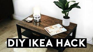 DIY IKEA HACK! WOOD COFFEE TABLE EASY & CHEAP 2017