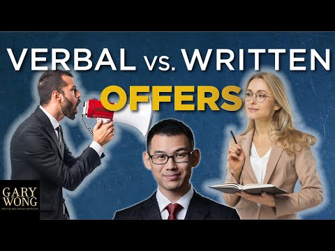 Verbal Vs Written Offers