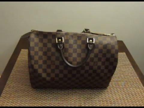 What S In My Diaper Bag Louis Vuitton Speedy 35 Damier Ebene