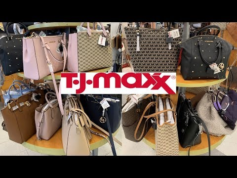 dcc2b354fa3a TJ Maxx Designer Handbags Purse Michael Kors Marc Jacobs | Shop With Me 2019