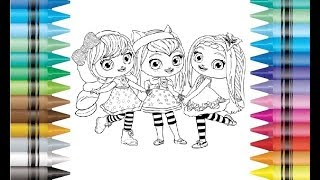 Little Charmers Hazel Charming Lavender Posie Coloring Pages Drawing For Kids And Children