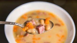 Фасолевый суп с колбасой | Рецепт