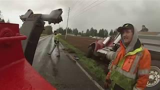 Catastrophic  Tire  Fail Loaded  Dump Truck thumbnail