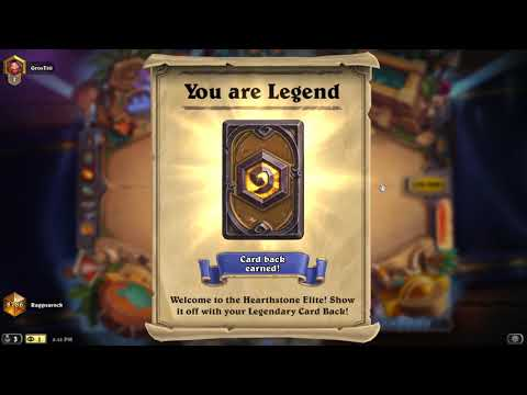 Hearthstone First Time Legend ! And The Rewards For Legend Rank