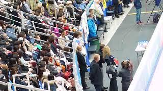 CUP OF RUSSIA,  Evgenia Medvedeva перед стартом  ее тренеры во время проката