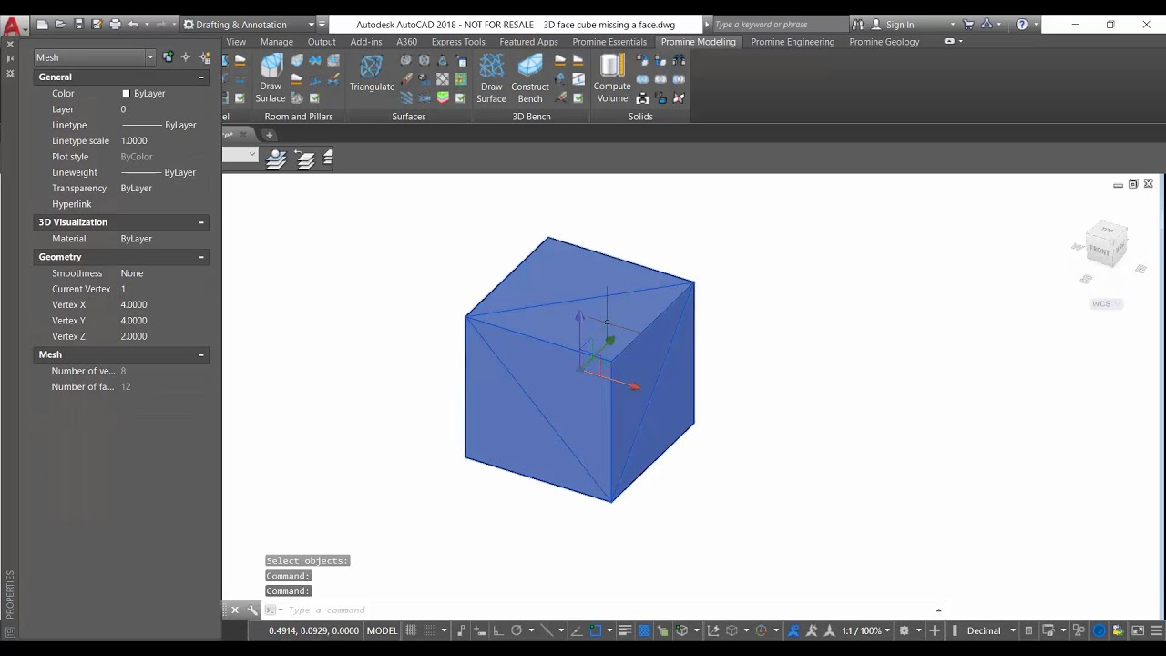 Promine AutoCAD Tip of the Week: The 3DFACE Command