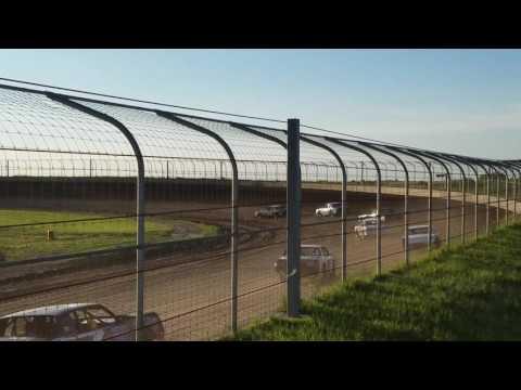 Jakob Egge heat Race Hobby stocks at Junction Motor Speedway  5/28/16.