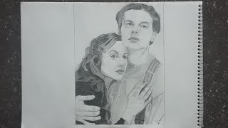 Titanic Rose and Jack drawing/ how to draw titanic couple's step by step
